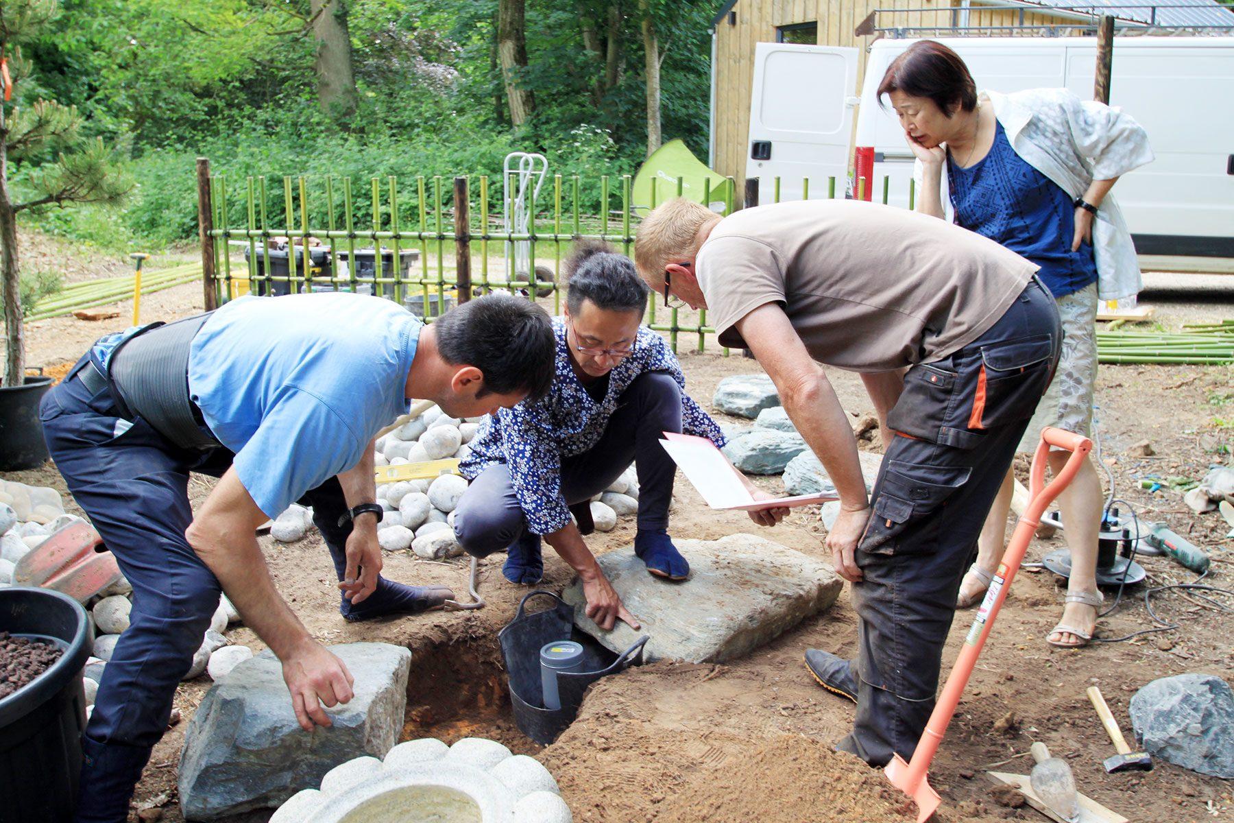 フランスでの庭づくり講習会、講師の米山拓未